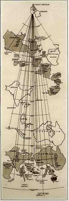 Comparative Distance Map for Supplying Great Britain in 1940.