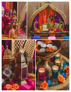 86 Bold And Vivacious Moroccan Wedding Ideas Summer is coming, and it's high time to rock bold colors and exotics! That's why today I'd like to share Moroccan wedding ideas with you – boho, bright and very original! Arabian Theme, Arabian Party, Arabian Nights Theme, Arabian Nights Bedroom, Arabian Nights Wedding, Arabian Decor, Henna Party, Indian Theme, Indian Party