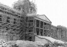 Construcción del Palacio Nacional Ciudad Trujillo, República Dominicana Obra del Ingeniero Italiano Guido D'Alessandro Lombardi Inaugurado en 1947