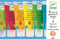 Finger paints are a great creative material for young children. They are wonderfully tactile and can fun to use. Non toxic finger paints for young artists. Recommended age + paint in each tube. 6 Fingers, Toy Playhouse, Crafts For Kids, Arts And Crafts, Paint Tubes, Paint Brands, Painted Sticks, Finger Painting, Blue Nails
