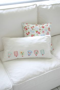 Sublime stitching pillow