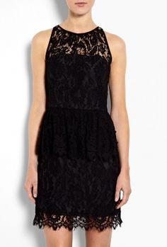 Liza Lace Peplum Dress by Milly