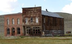 Bodie State Park - Ghost Town - California, USA:  At photo left, the Dechambeau Hotel and Post Office – next to the I.O.O.F Hall # 279. First floor housed an undertaking business.