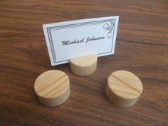 10 Wood place card holders Table number holders by WoodpeckerLG