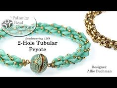 2-Hole Tubular Peyote Stitch (Tutorial) - YouTube