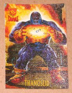 Amalgam (Fleer/SkyBox 1996) Canvas Card #5 Thanoseid EX-MT