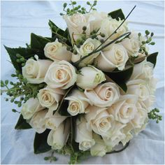 Bridal Bouquet of white Roses. Bridal Packages, White Wedding Flowers, Dream Wedding, Wedding Stuff, White Roses, Vows, Wedding Bouquets, Congratulations, Floral Wreath