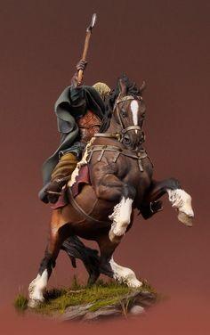 Viking on Horseback, 850 A.D. SV-05 54 mm 1/32 | The Vikings | Andrea Miniatures | ANDREA DEPOT USA