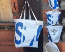 SALE!!! Blue USA Beach Bag, Recycled Sail, SALE!!!!