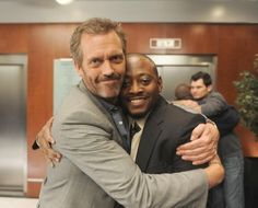 Still of Omar Epps and Hugh Laurie in House M.D.  I am going to miss this :)
