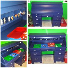 Not Your Average Neighbor: Boring Desk Refinish - Lego Desk Fun!