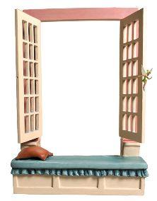 Peter Pan-Darling Nursery Window Base (2001 Open Edition)