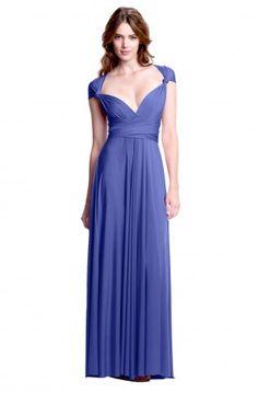 Sakura Periwinkle Blue Maxi Convertible Dress