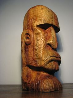 moko tattoo by olivelebasque on DeviantArt Wood Carving Faces, Dremel Wood Carving, Tree Carving, Wood Carving Patterns, Wood Carving Art, Wood Art, Driftwood Sculpture, Sculpture Art, Sculptures