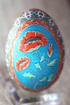 Katyegg Design: Friday Egg: Traditional Scarlet Poppy