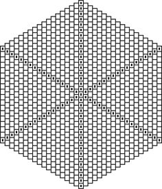 How to graph a mandala like flat peyote pattern, including blank graph paper and several patterns. - Graphing Patterns - Mandalas - Beadwork at BellaOnline Peyote Stitch Patterns, Beading Patterns Free, Beading Tutorials, Jewelry Patterns, Free Pattern, Beaded Banners, Beaded Boxes, Beading Techniques, Graph Paper