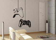 Removable Wall Art for Bedrooms | Video Art Decals Wall Sticker Vinyl Wall Decal stickers living room ...