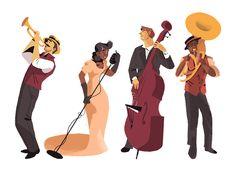 Musik Illustration, Illustration Vector, People Illustration, Character Illustration, Photoshop, Music Drawings, Festival Posters, Jazz Festival, Fan Art