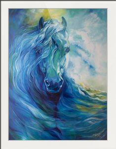 """BLUE GHOST OCEAN EQUINE"" by Marcia Baldwin, Shreveport, Louisiana"