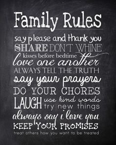 I know you always tell your kiddos to say please and thank you and to do their chores, but there's nothing like a little friendly reminder in writing. So today I'm sharing my free Family Rules printable that you can hang in your family room, playroom or kitchen. Just download the file (right click and …