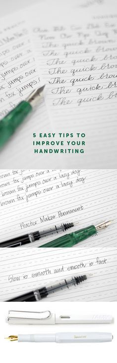 Easy Ways to Improve Your Handwriting 5 easy tips for improving your handwriting. Free printable print and cursive alphabet guide sheets easy tips for improving your handwriting. Free printable print and cursive alphabet guide sheets included. Cursive Alphabet, Calligraphy Handwriting, Learn Calligraphy, Calligraphy Letters, Penmanship, Improve Your Handwriting, Handwriting Practice, Handwriting Styles, Nice Handwriting