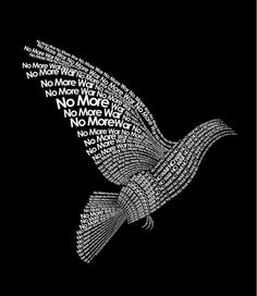 Peace On Earth, World Peace, Wort Collage, Poesia Visual, Give Peace A Chance, Peace Dove, Peace Bird, We Are The World, Typography Art