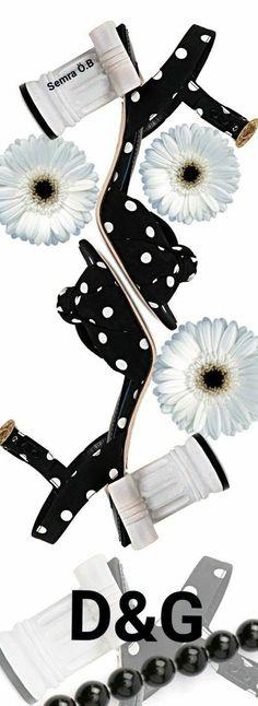 D&G Dolce & Gabbana, Black White Red, White Style, Dots Fashion, Fashion Shoes, Red Polka Dot Dress, Polka Dots, New Jaguar, First Perfume