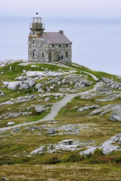 ✮ View of lighthouse, Rose Blanche, Newfoundland, Canada.
