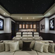Now this is a room fit for watching a movie. #homeinspiration