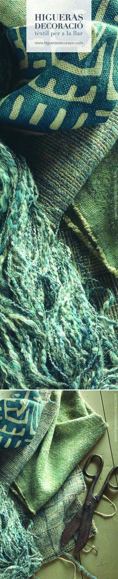 Consigue un aspecto rústico con tejidos naturales como el lino, lana, cashmere… Telas tejidas a mano. www.higuerasdecoracio.com