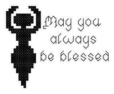 Little Goddess Be Blessed Counted Cross by crochetcronesdesigns, $3.00