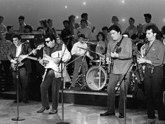 Photo of Los Lobos in January 1,1960 performing at an undetermined location.