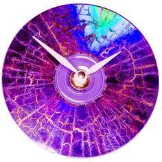 CD Clock - Purple