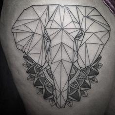 Rico: Made a geometric style elephant tattoo #elephanttattoo #shapeshift…