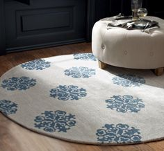 Try something a little different by rounding out your room with one really remarkable round rug (and say that three times fast). Living Room Kitchen, Rugs In Living Room, Drop Cloth Projects, Living Room Accents, Entry Foyer, Round Rugs, Floor Rugs, Sweet Home, New Homes