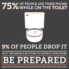 Do you use your phone in the bathroom? Be honest! Repin with your best phone destruction story for a chance to win a $250 prize.