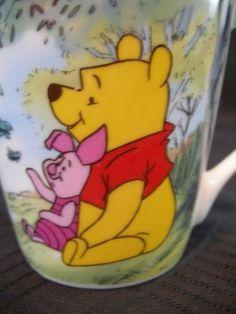 NEW Disney Pooh Tigger Piglet Coffee Tea Cup Glass NICE $8.50