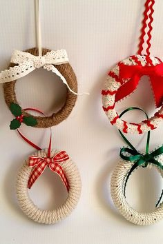 Put those mason jar tops to good use—the lids are the perfect size for mini wreaths wrapped with jute and ribbon. Get the tutorial here.   - Redbook.com
