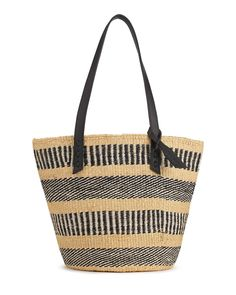 bc71c3adc The Basket Room x Jigsaw Handwoven Tote  Black