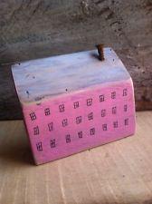 Pink Lil House Wood Rustic Reclaimed Folk Art Nursery By A.Gambrel
