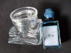 bleu ink scented with jiasmine glass inkwell for by 23bestFORyou