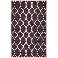 Unique Loom Trellis Purple Area Rug Rug Size: