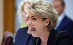 Minister for Jobs Michaelia Cash at Senate estimates hearing at Parliament House.