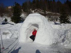 This man found a creative way to stay out of the sun while skiing in Slovakia!