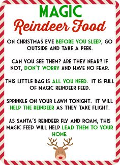 reindeer food tags - Google Search