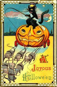 Vintage Halloween Postcards c.1910's