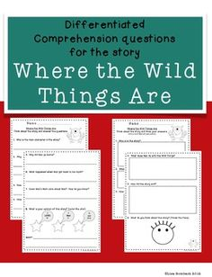 Differentiated Comprehension Questions Where the Wild Things Are $