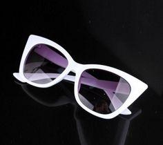 "Sexy ""Cat Eye"" Sunglasses in White!"