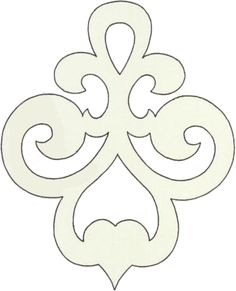 Scroll saw pattern ornament Stencil Patterns, Stencil Designs, Embroidery Patterns, Cross Patterns, Wood Patterns, Stencils, Motif Art Deco, Scroll Saw Patterns Free, Free Pattern
