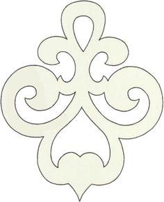 Scroll saw pattern ornament Stencil Patterns, Stencil Designs, Applique Patterns, Art Patterns, Cross Patterns, Stencils, Bordados E Cia, Scroll Saw Patterns Free, Diy And Crafts